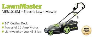 lawnmaster meb1016m 10 amp 15