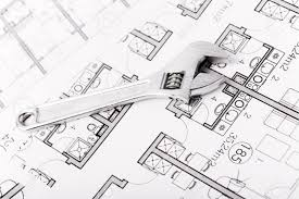 House Plumbing by Plumbing Equipment On House Plans Stock Photo Picture And Royalty