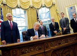 Oval Office Trump by Trump Issues Executive Orders Freezing Federal Hiring Targeting