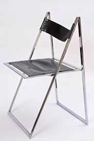 Folding Chairs Chrome And Leather Folding Chairs For Sale At 1stdibs