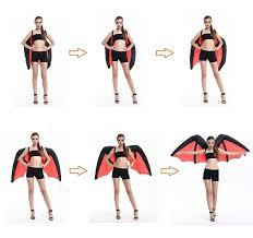 huge inflatable bat wings costume the green head