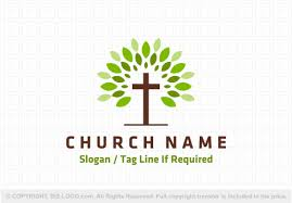 cross and tree logo