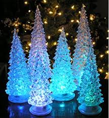 Large Acrylic Christmas Decorations by Amazon Com Reindeer And Christmas Tree Color Changing Acrylic