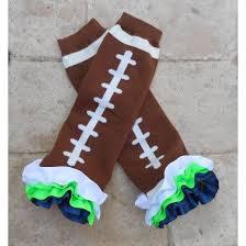 seahawk ribbon football ribbon ruffle seahawk leg warmers fan baby toddler