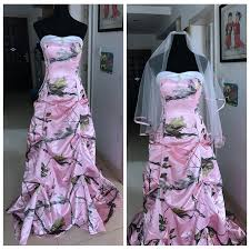 pink camo wedding gowns pic pink camo wedding dress draped skirt camouflage with veil