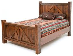 post and beam barnwood bed rustic panel beds by woodland