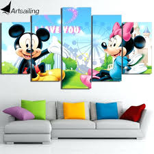 wall ideas mickey mouse wall art vintage mickey mouse sports mickey mouse wall art uk mickey mouse wall art ideas hd printed cartoon mickey mouse minnie painting wall art canvas print room decor print poster picture