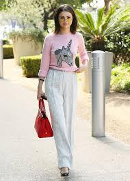 selena gomez sweater selena gomez unicorn coach sweater whowhatwear