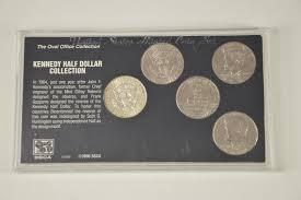 silver coin set oval office collection kennedy half dollar