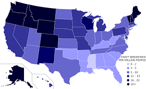 Map Of United States States by List Of Breweries In The United States Wikipedia