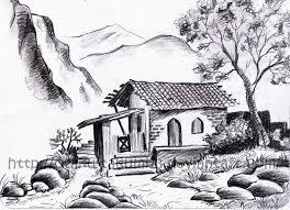 pencil landscape sketches pencil art drawing