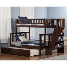 Twin Over Full Bunk Bed With Stairs Bunk Beds With Stairs And Trundle White Safety Bunk Beds With