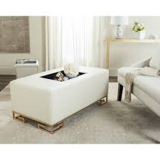 safavieh julian faux ostrich tray cream ottoman coffee table