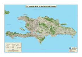 Haiti Map Large Scale Detailed Map Of Republic Of Haiti And Dominican