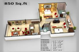 850 sq ft 2 bhk floor plan image unique real build homes