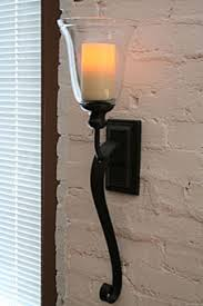Battery Wall Sconce Rubbed Bronze Battery Operated Iron Scroll Sconce Modern