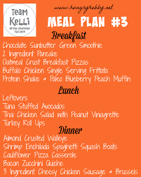 Plan 3 by Meal Plan 3 Fall 2015 90 Day Challenge Hungry Hobby