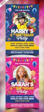 kids birthday party invitation card psd psdfreebies com
