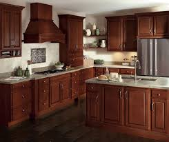glazed cherry cabinets in a traditional kitchen homecrest