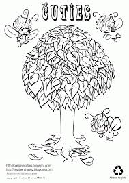 orange tree coloring page coloring home