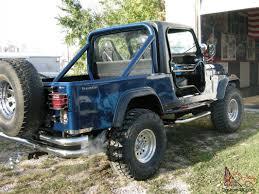 jeep scrambler blue jeep scrambler modified pristene condition