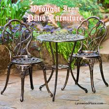 Wrought Iron Outdoor Patio Furniture by Wrought Iron Patio Furniture