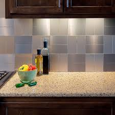 Tile For Backsplash In Kitchen Aspect Short Grain 3 In X 6 In Metal Decorative Tile Backsplash