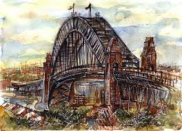 sydney harbour bridge illustrations by tanyah