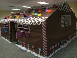 4 office cubicles decorated for the holidays our massive