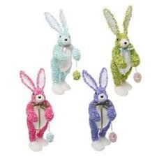raz easter decorations raz 16 glittered hydrangea bunny easter decoration made of