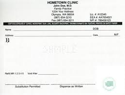 washington approved prescription paper