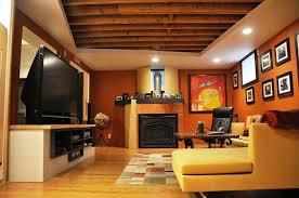 fancy plush design low basement ceiling ideas modern basements ideas