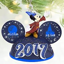 disney sorcerer mickey mouse light up ear hat ornament