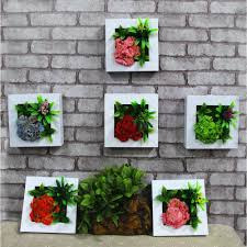 home decor artificial plants 2017 3d artificial plant wooden wall decorative painting stereo