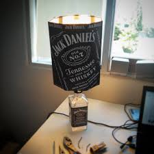 how to turn an empty jack daniels bottle into a lamp