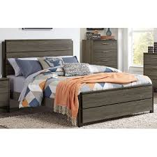 Gray  Black Contemporary Queen Size Bed Oxon RC Willey - Rc willey black bedroom set