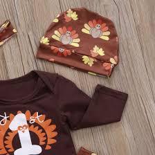 baby thanksgiving clothes set autumn newborn romper bodysuit