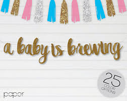 a baby is brewing baby brewing banner etsy
