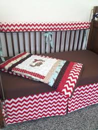 Boy Monkey Crib Bedding Sock Monkey Custom Made Crib Bedding Set By Sewcribcreations