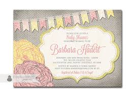 baby shower invitation pink u0026 yellow baby rose flower