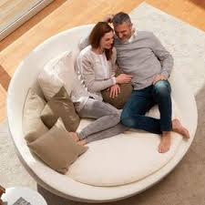 Round Sofa Bed by Round Sofa Contemporary Leather Fabric Round Sofa