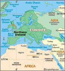 map of n europe northern ireland map geography of northern ireland map of