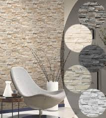 Wohnzimmer Design Mit Stein Details Zu Steintapete 3d Vliestapete Stein Optik P S Einfach