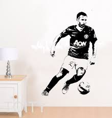 large sports wall murals promotion shop for promotional large ryan giggs wall sticker retro footballer vinyl art decal boy dorm sport club home bedroom interior decor large mural