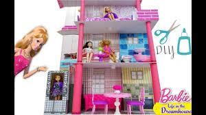 My Homemade Barbie Doll House by Barbie Doll House Diy How To Make A Barbie Malibu Dream House