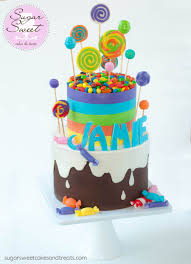 rainbow candy themed cake cakecentral com