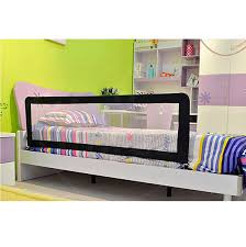 Toddler Folding Bed Child Bed Rails Fold Down Safety Bed Rail With Organizer Pouch