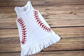 6m 6x infant toddler u0026 girls baseball ruffle tank dress baby