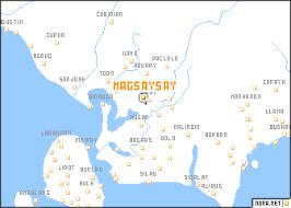 san jose mindoro map magsaysay philippines map nona net