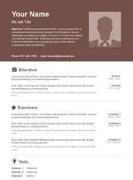 Free Cool Resume Templates Word Cool Basic Resume Template 51 Free Samples Examples Format